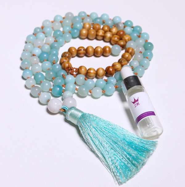 Natural Gemstone Super Mala Prayer - Pick Your Gemstone - Zayra Mo