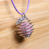 Aromatherapy Necklace, Essential Oils (Lavender) Diffuser Locket Pendant with Lava Rock Stone - Zayra Mo