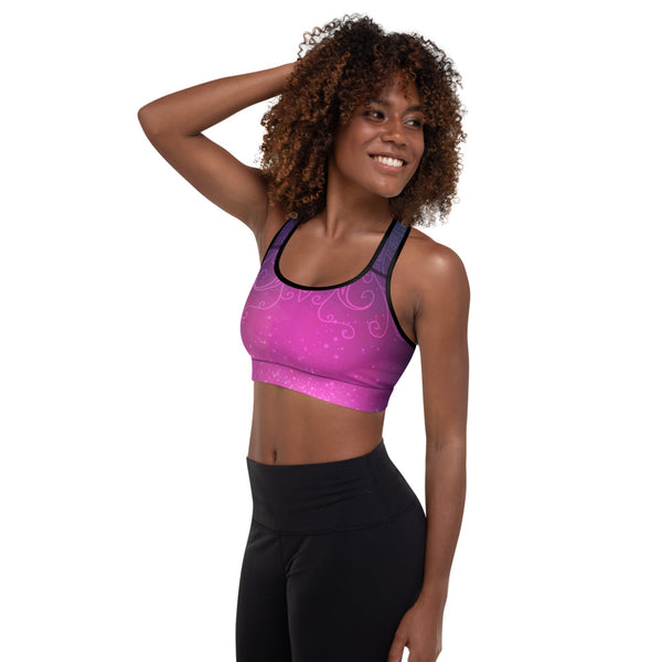 Meteor Shower Padded Sports Bra - Sonia Pop Up - Zayra Mo