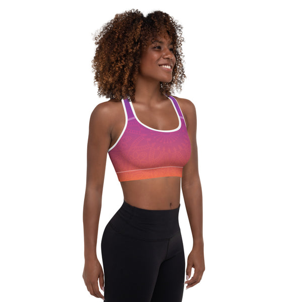 Sunset Mandala Padded Sports Bra - Sonia Pop Up - Zayra Mo