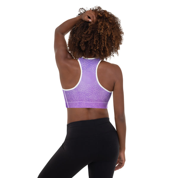 Purple Night Padded Sports Bra - Sonia Pop Up - Zayra Mo