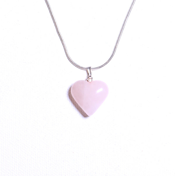 Rose Quartz Heart Pendant and Necklace - The Yogi World - Zayra Mo