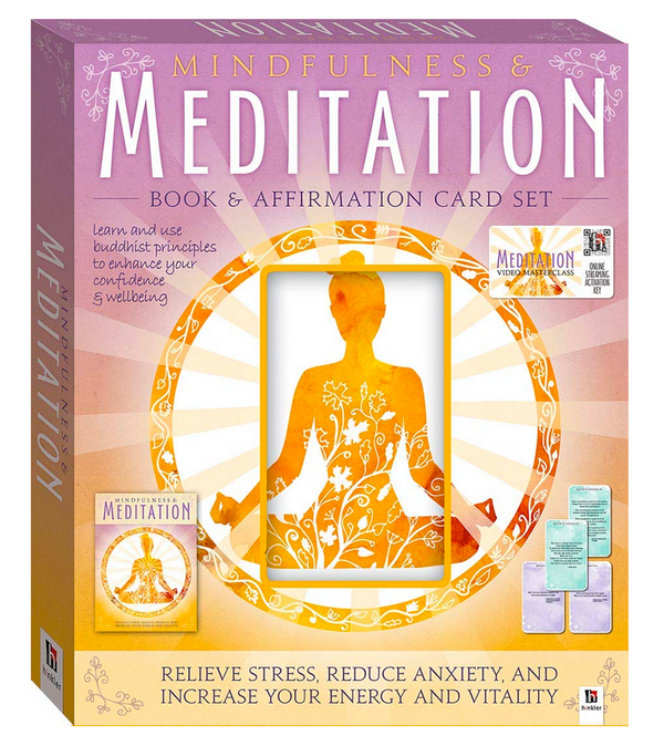 Mindfulness And Meditation Book + Video Masterclass and 48 Affirmation Cards BOX SET - Soul Books - Zayra Mo