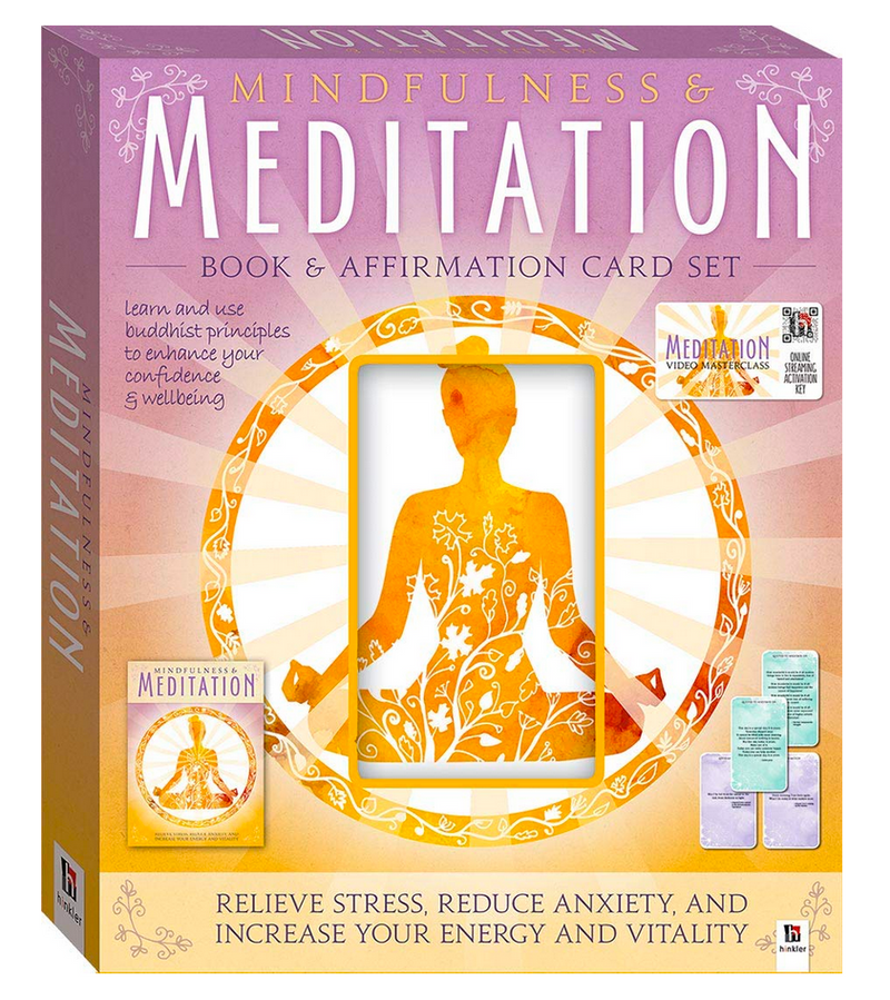 Mindfulness And Meditation Book + Video Masterclass and 48 Affirmation Cards BOX SET - Soul Books