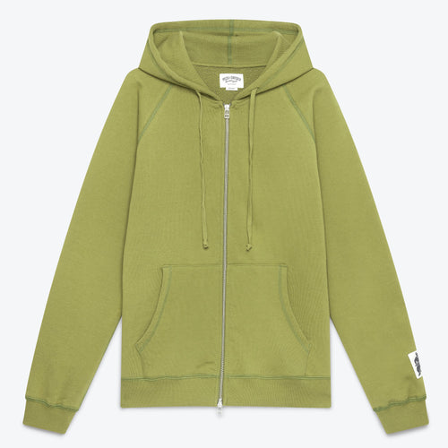 Peck & Snyder Full Zip Raglan Hoodie - Khaki - The Great Divide