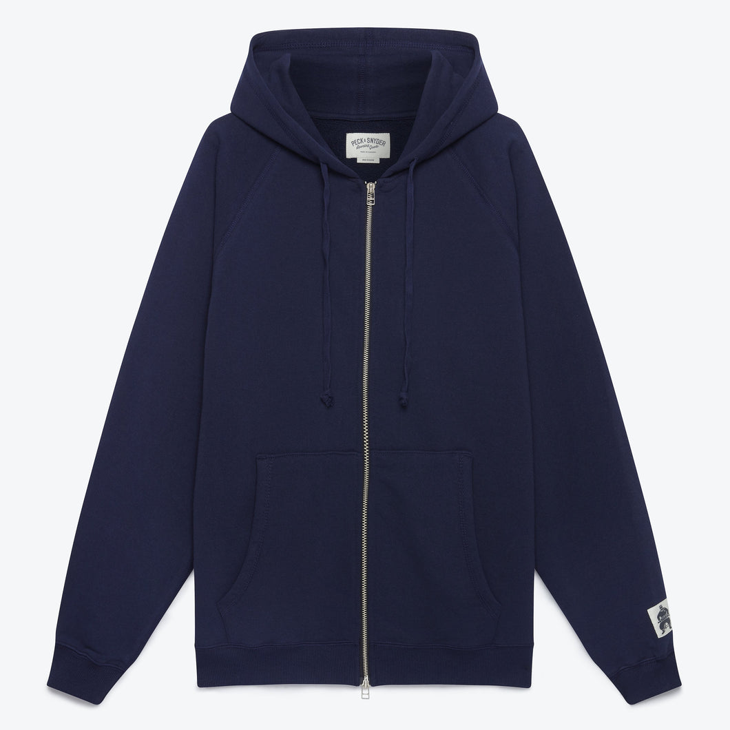 Peck & Snyder Full Zip Raglan Hoodie - Midnight - The Great Divide