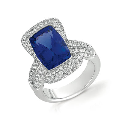 Fit for a Princess: Sapphire Engagement Ring by Vanna K