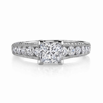 Hand Engraved Perfect Profile Diamond Ring Style 18RGL0040311DCZ