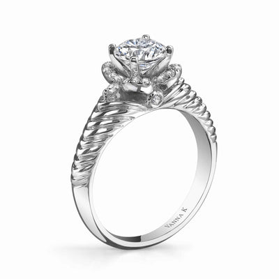Hand Engraved Perfect Profile Diamond Ring Style 18RM55099DCZ