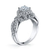 Vintage Inspired Diamond Pave Set Solea Ring Style 18RGL765DCZ