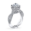 Vintage Inspired Diamond Pave Set Solea Ring Style 18RGL02952DCZ