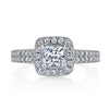 Vintage Inspired Diamond Pave Set Solea Ring Style 18RM060231DCZ
