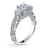 Hand Engraved Perfect Profile Diamond Ring Style 18RGL00628DCZ