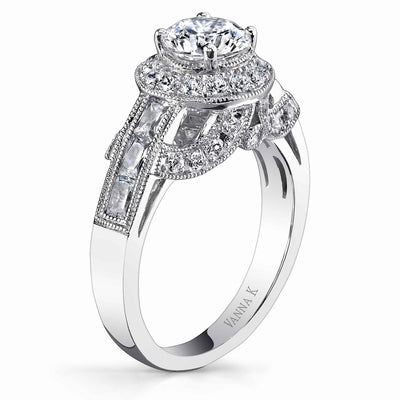 Ultra Lux Cascade Bridal Ring Style 18RGL775DCZ