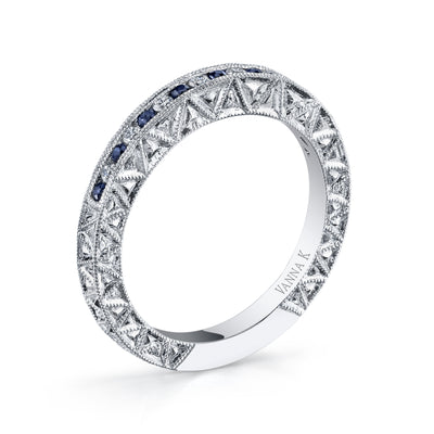 Hand Engraved Perfect Profile Diamond Ring Style 18BND001126S