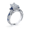 Hand Engraved Perfect Profile Diamond Ring Style 18RGL00631SDCZ