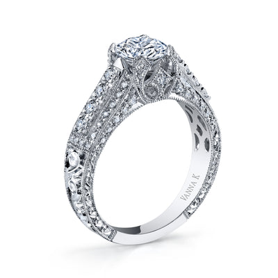 Hand Engraved Perfect Profile Diamond Ring Style 18RGL810DCZ