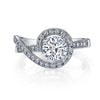 Vintage Inspired Diamond Pave Set Solea Ring Style 18RGL809DCZ