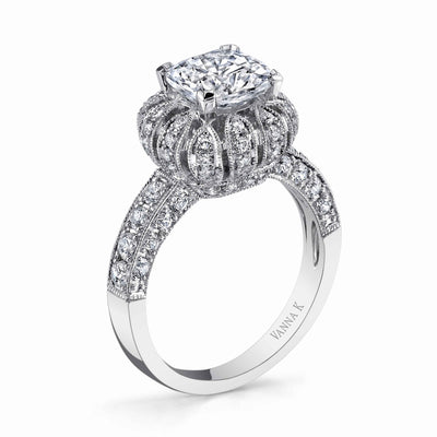 Vintage Inspired Diamond Pave Set Solea Ring Style 18RGL817DCZ