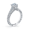 Hand Engraved Perfect Profile Diamond Ring Style 18RGL00126DCZ