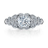 Vintage Inspired Diamond Pave Set Solea Ring Style 18RGL00632DCZ