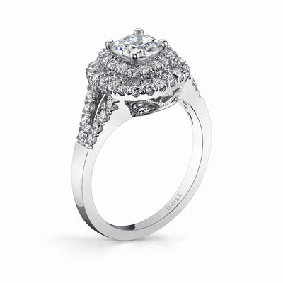 Vintage Inspired Diamond Pave Set Solea Ring Style 18RGL840DCZ