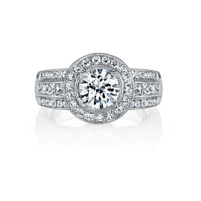Hand Engraved Perfect Profile Diamond Ring Style 18R845DCZ