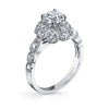 Vintage Inspired Diamond Pave Set Solea Ring Style 18R850DCZ