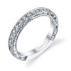 Hand Engraved Perfect Profile Diamond Ring Style 18BND865