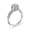 Vintage Inspired Diamond Pave Set Solea Ring Style 18R42DCZ