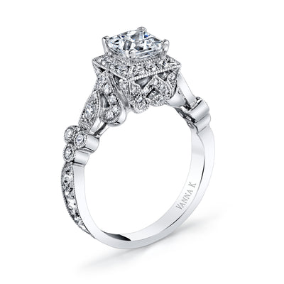 Hand Engraved Perfect Profile Diamond Ring Style 18RGL00612DCZ