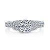 Vintage Inspired Diamond Pave Set Solea Ring Style 18RGL944DCZ