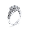 Vintage Inspired Diamond Pave Set Solea Ring Style 18R988DCZ