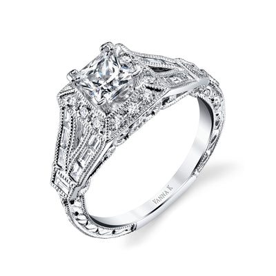 Ultra Lux Cascade Bridal Ring Style 18RGL00644DCZ