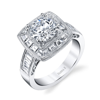 Ultra Lux Cascade Bridal Ring Style 18RO48961DCZ