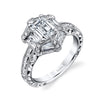 Hand Engraved Perfect Profile Diamond Ring Style 18R874DCZ