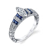 Hand Engraved Perfect Profile Diamond Ring Style 18RGL00215SDCZ