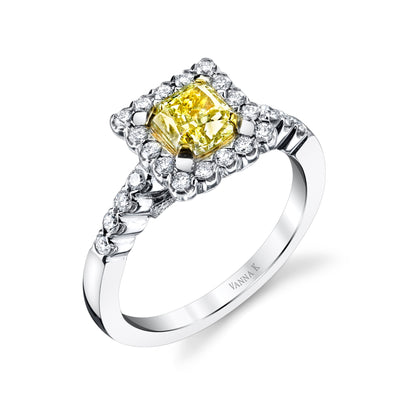 Soleamore Unique Rare Yellow Diamond Ring Style 18RGL5392DY