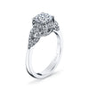 Vintage Inspired Diamond Pave Set Solea Ring Style 18R313DCZ