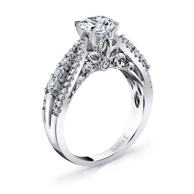 Hand Engraved Perfect Profile Diamond Ring Style 18RGL599DCZ