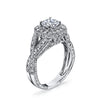 Hand Engraved Perfect Profile Diamond Ring Style 18R8681DCZ