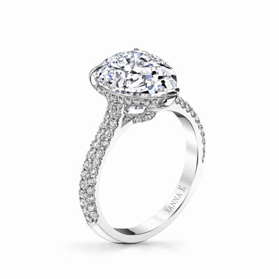 Vintage Inspired Diamond Pave Set Solea Ring Style 18R1058PE