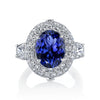 18K White Gold Oval Tanzanite Engagement Ring