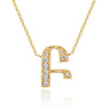 14K YELLOW GOLD ARMENIAN INITIAL DIAMOND NECKLACE