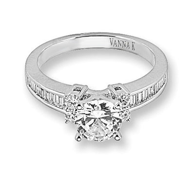 Ultra Lux Cascade Bridal Ring Style 18M00026CZ