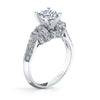Vintage Inspired Diamond Pave Set Solea Ring Style 18M00066RCZ