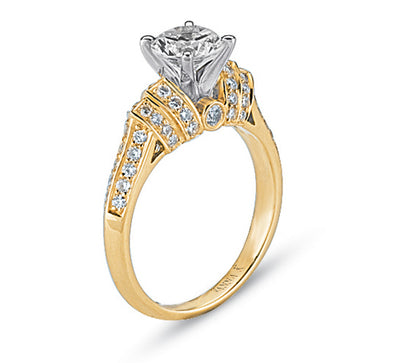 Vintage Inspired Diamond Pave Set Solea Ring Style 18M00066YRCZ