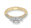 Vintage Inspired Diamond Pave Set Solea Ring Style 18M00165YCZ1