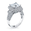 Vintage Inspired Diamond Pave Set Solea Ring Style 18RO4094WCZ