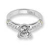 Vintage Inspired Diamond Pave Set Solea Ring Style 18RO4415DCZ